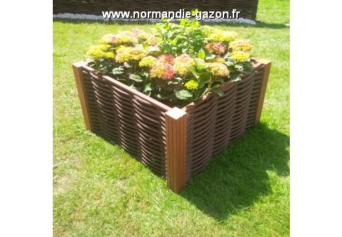 carr potager en m tal fibre couleur bois. Black Bedroom Furniture Sets. Home Design Ideas